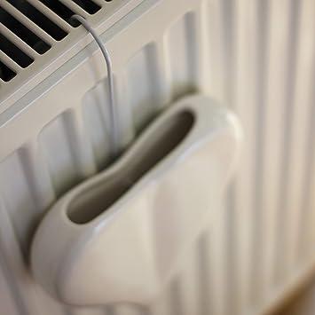 Coraz/ón de humidificador 4/piezas de cer/ámica blanca para fijaci/ón en el radiadores difusor humidificadores