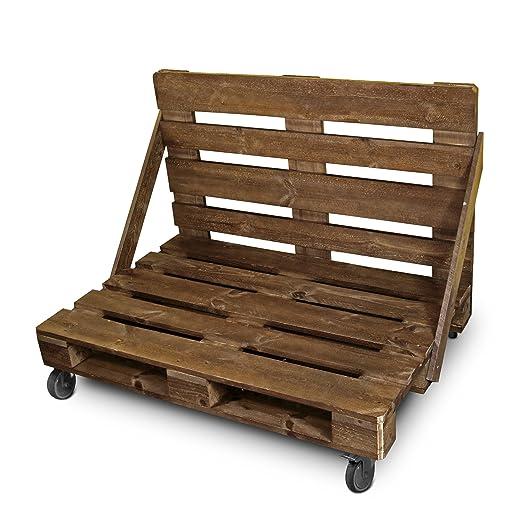 Happers Sofá - Mueble de palets Barnizado y Lijado Especial para Exterior
