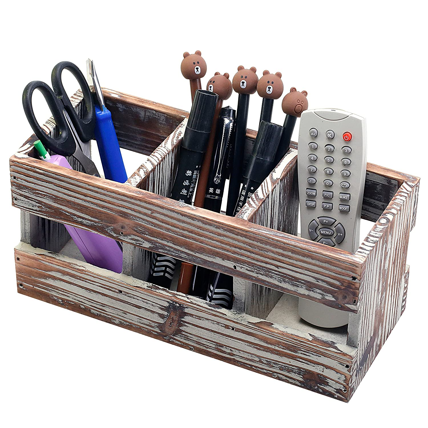 Compartment Torched Desktop Supplies Organizer Image 2