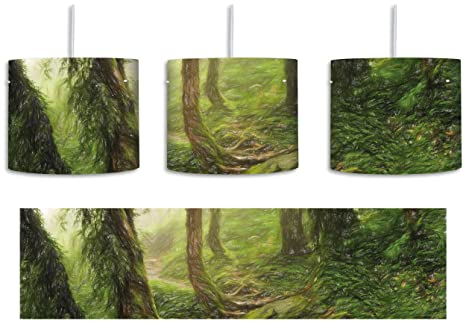Tropischer La Selva Dschungel Bunstift Effekt inkl. Lampenfassung ...