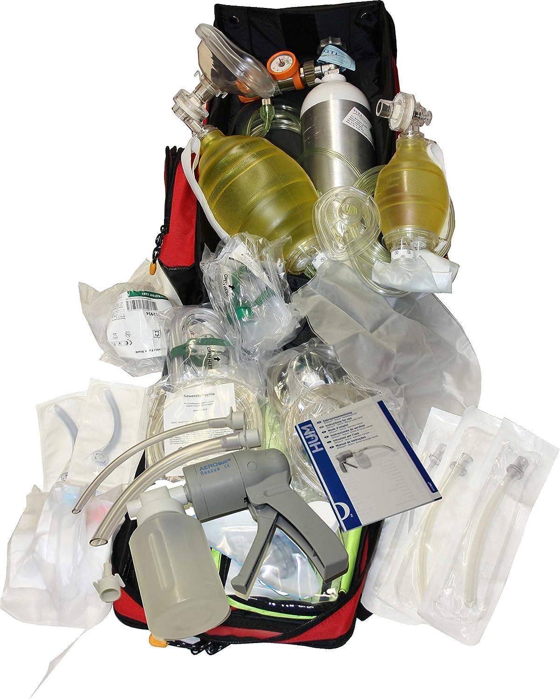 Notfallrucksack Beatmung mit Sauerstoff für Erwachsene und Kinder
