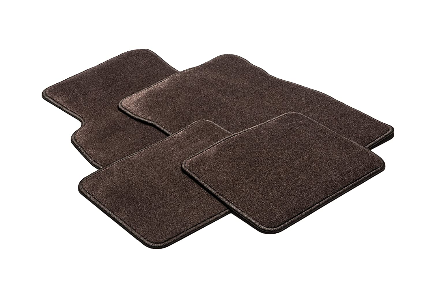 GM Accessories 25839550 Front and Rear Carpet Floor Mats in Cocoa General Motors