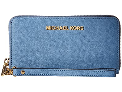 7f67432a05c08e MICHAEL Michael Kors Jet Set Travel Large Mlt Funt Phone Case Clutch  Handbags Cornflower