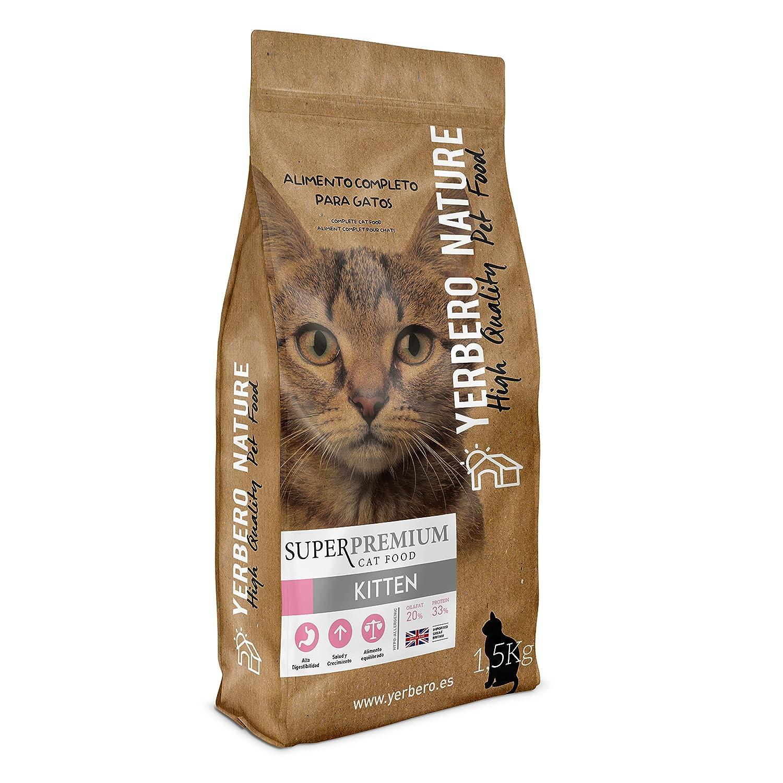 Yerbero NATURE KITTEN pienso apetente de calidad superpremium para gatitos 1.5kg: Amazon.es: Alimentación y bebidas
