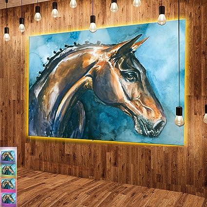 large blue horses painting
