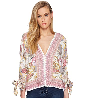 Free People Catch Me If You Can Top Tie Sleeves (Ivory) (XS) at ... 2c84a986c