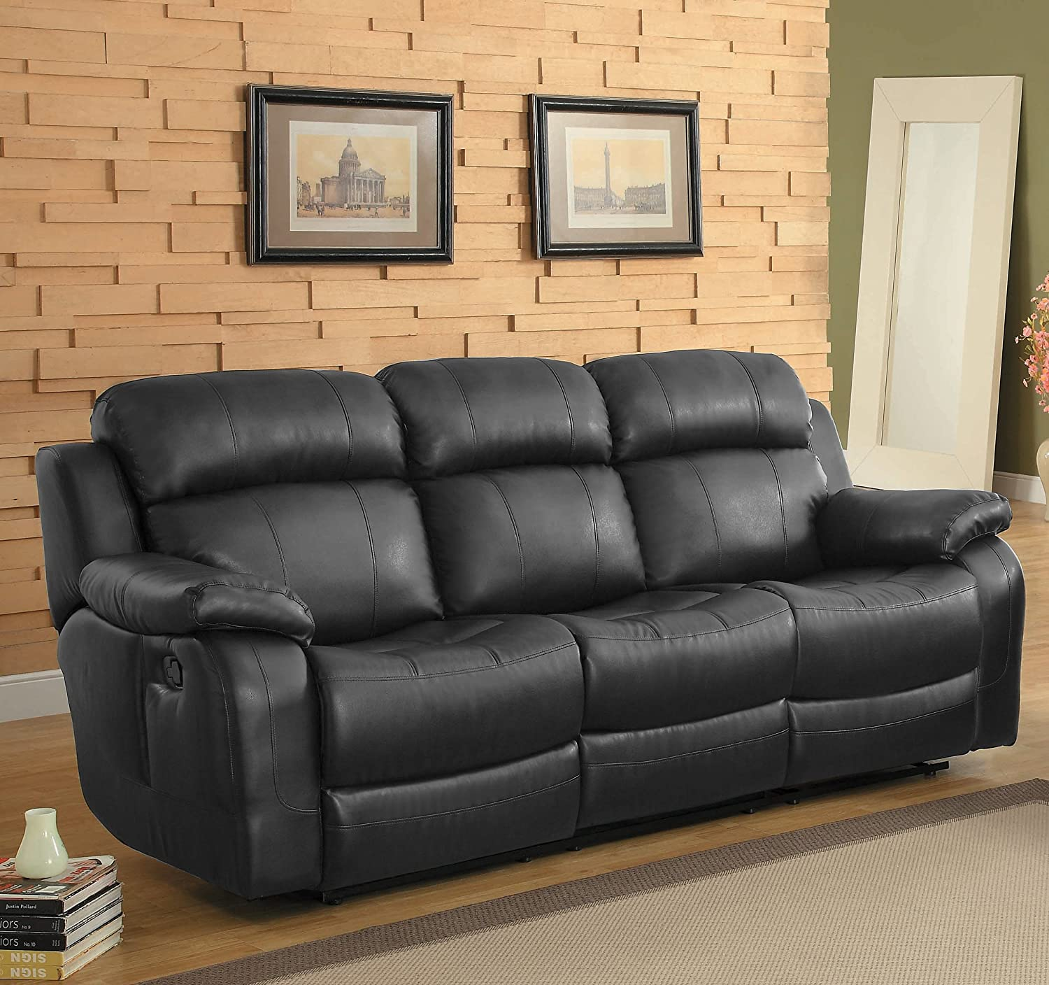 Amazon Homelegance Marille Reclining Sofa w Center Console