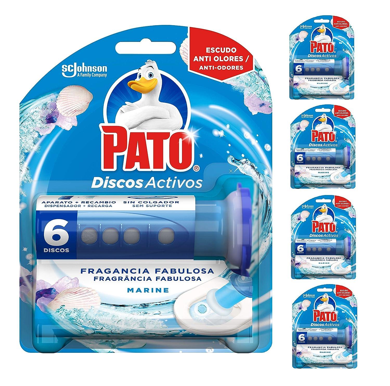 Pato - Discos Activos WC Marine, aplicador y recambio con 6 discos ...