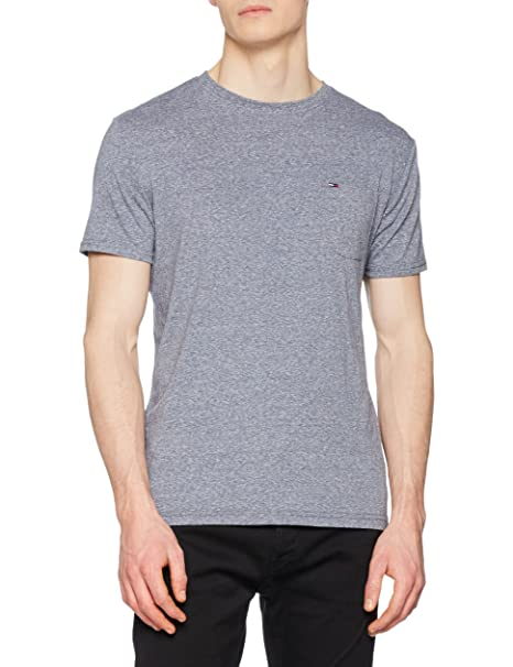 Tommy_Jeans TJM Essential Pocket tee, Camiseta para Hombre
