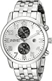 August Steiner Men's AS8175SS Silver Multifunction Quartz Watch with Silver Dial and Silver Bracelet