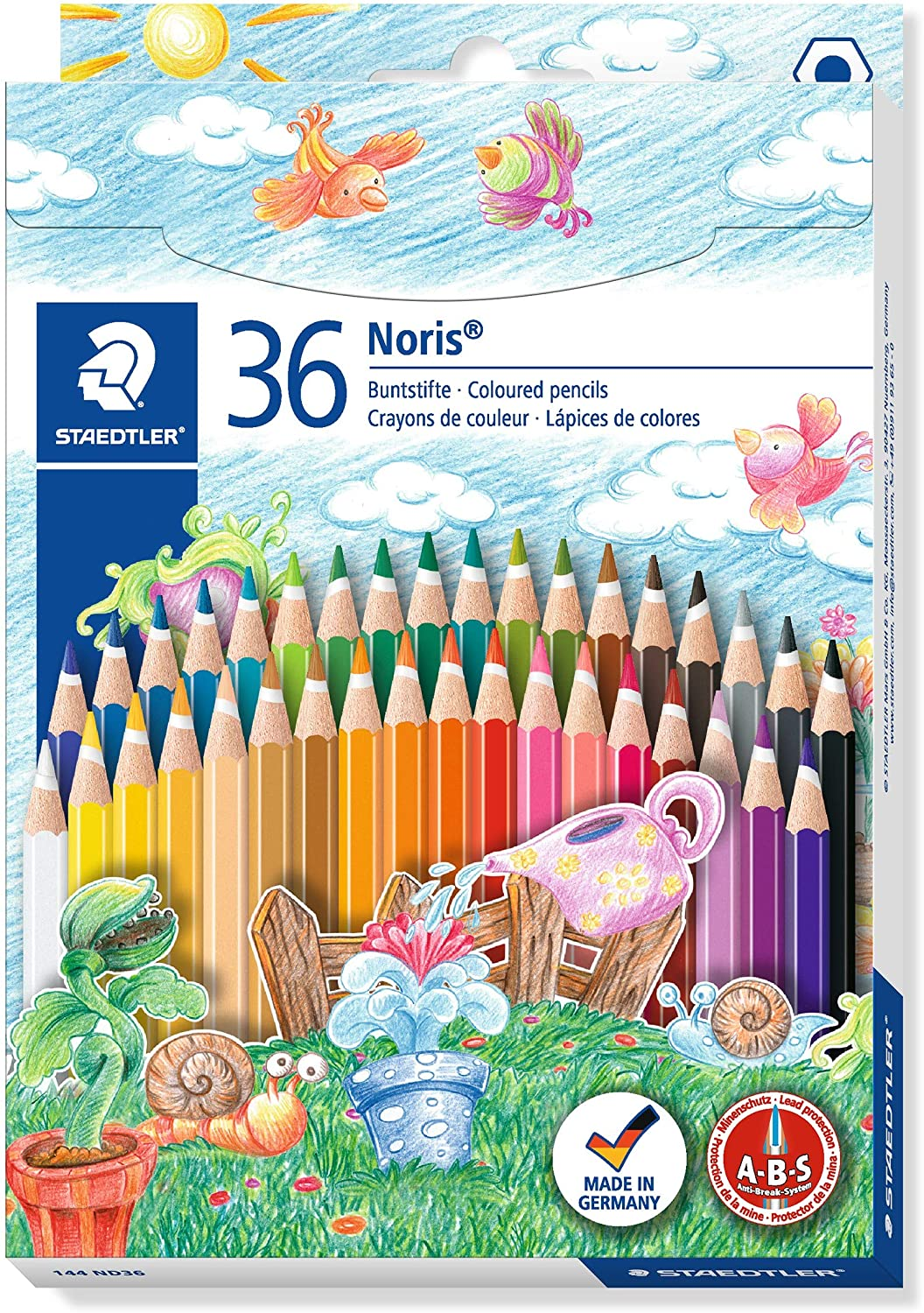 Assorted Colour Pack of 72 STAEDTLER 175 M72 Coloured Pencils