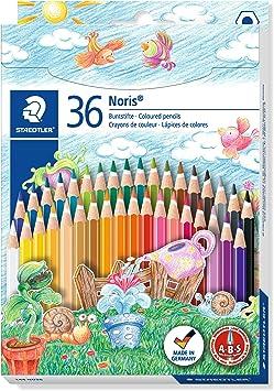 Staedtler-144 ST Caja con 36 lápices de colores, Multicolor, (144 ND36): Amazon.es: Juguetes y juegos
