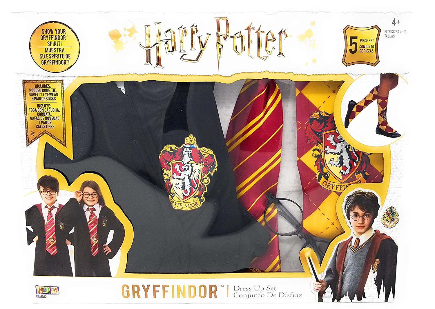 Amazon.com: Harry Potter Gryffindor Costume and Dress Up Set for Ages 4 to 10: Clothing