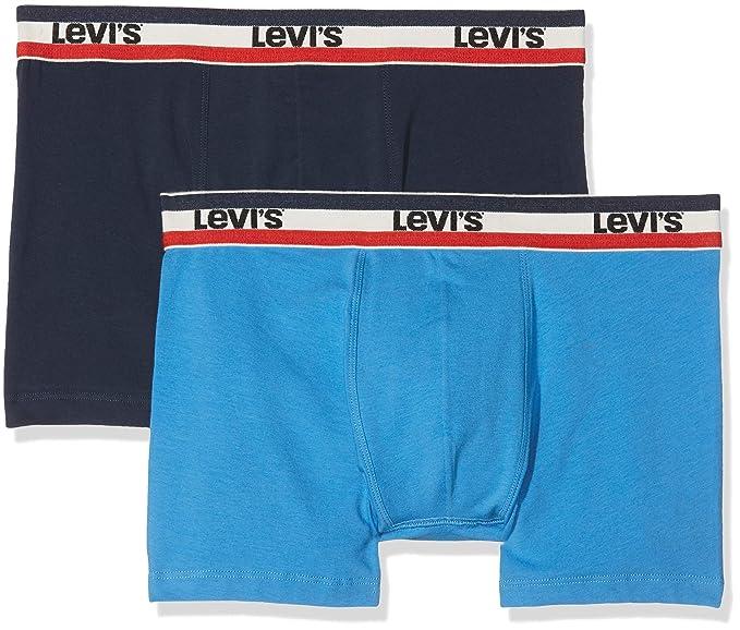Levis Levis 200SF SPRTSWR Logo Color Boxer Brief 2P, Hombre, (Campanula 731)