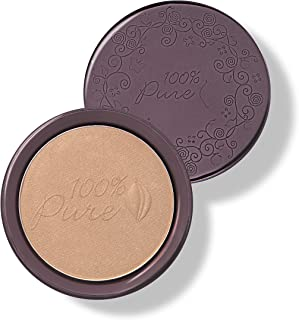 product image for 100% PURE Cocoa Pigmented Bronzer, Cocoa Gem, Bronzer Powder for Face, Contour Makeup, Soft Shimmer, Sun Kissed Glow (Light Peachy Brown w/Golden Undertones) - 0.32 Oz
