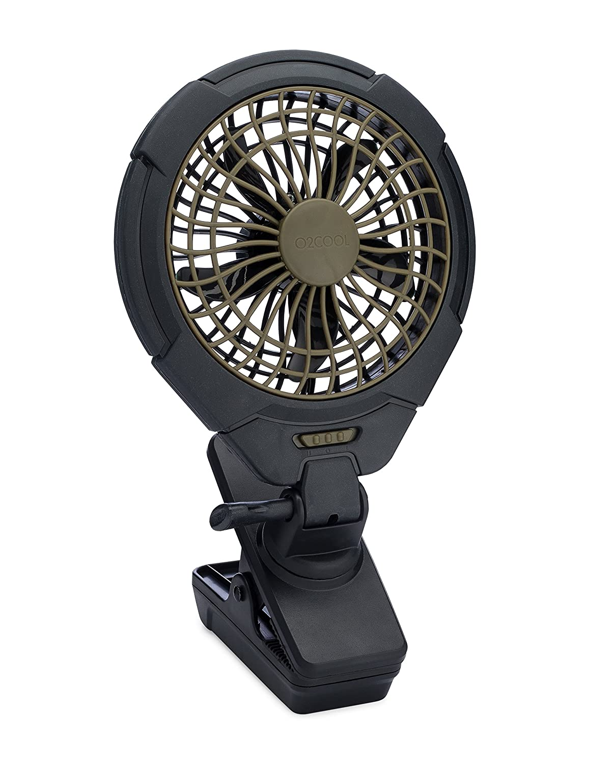 """O2COOL 5"""" Battery Operated Clip Fan - Adjustable, Rotating, Tilt & Swivel Feature Portable Fan 