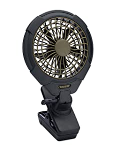 "O2COOL 5"" Battery Operated Clip Fan - Adjustable, Rotating, Tilt & Swivel Feature Portable Fan 