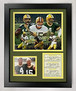 Legends Never Die 1967 Green Bay Packers Ice Bowl BW 16 x 20 Framed Photo Collage