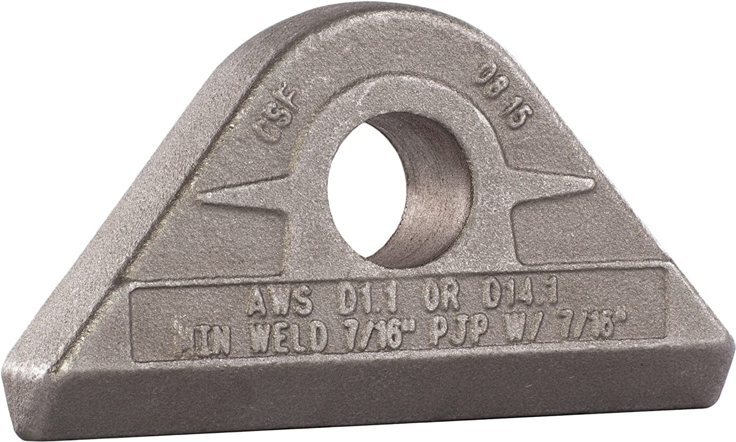 Grey 6-1//2 Tons Working Load Limit MAG-Mate PE0650 Weld-On Pad Eye 13000 lb