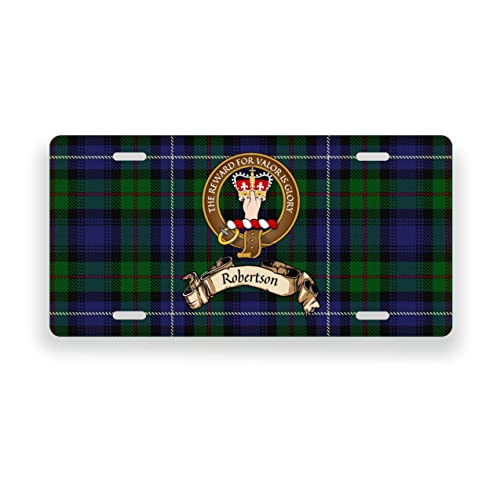 Robertson Scottish Clan Tartan Novelty Auto Plate