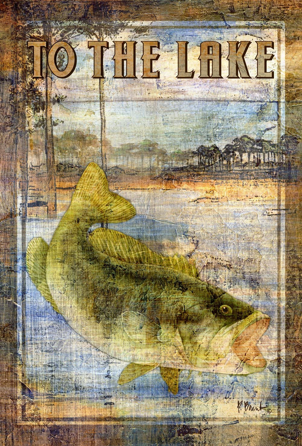 Toland Home Garden 109717 Welcome to The Lake 28 x 40 Inch Decorative, House Flag-28