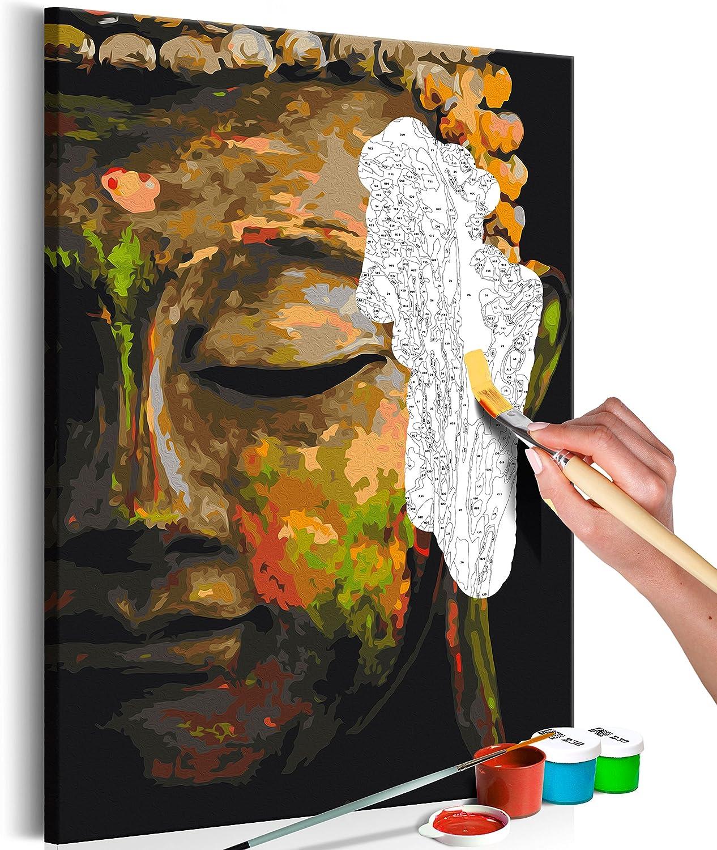 murando Pintura por Números Cuadros de Colorear por Números Kit para Pintar en Lienzo con Marco DIY Bricolaje Adultos Niños Decoracion de Pared Regalos - Buda 40x60 cm - DIY - n-A-0568-d-a