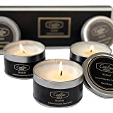 Caitlins Home Scented Candles Aromatherapy Soy Wax Candle Gift Set Vanilla, White Lavender, Fresh Rose Scents