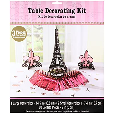 "Day in Paris"" Party Table Decorating Kit: Kitchen & Dining,"""