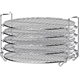 Ninja Foodi Dehydrator Stand, with Five Layers Compatible with 6.5 Quart and 8 Quart, Stainless Steel Finish