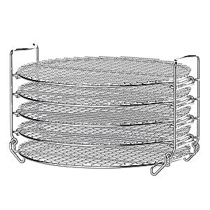 Ninja AOP104BRN Foodi Accessory Dehydrator Stand 6.5 & 8 qt. Stainless Steel