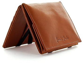 JAIMIE JACOBS Cartera Mágica Flap Boy - el Original - Magic Wallet Cartera Hombre Cuero auténtico (Coñac): Amazon.es: Equipaje