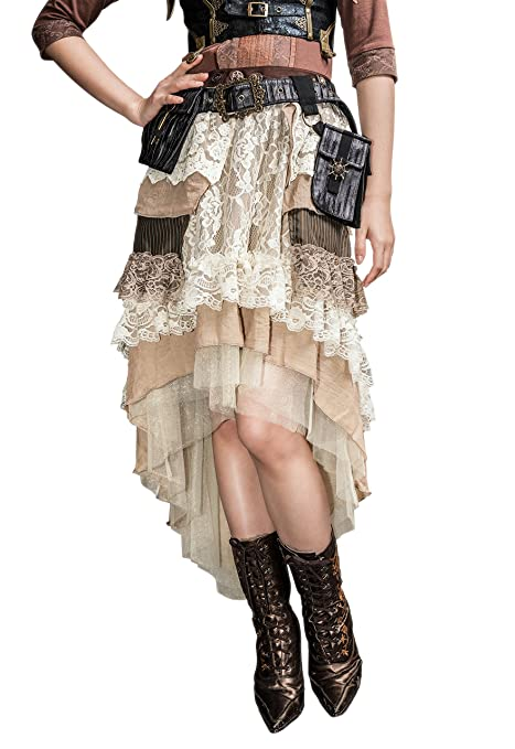 Steampunk Skirts | Bustle Skirts, Lace Skirts, Ruffle Skirts Steampunk Victorian Gothic Sexy Prom Dresses Homecoming Dresses Wedding Dresses  AT vintagedancer.com