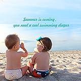 ALVABABY Baby Swim Diapers 2pcs One Size Reuseable