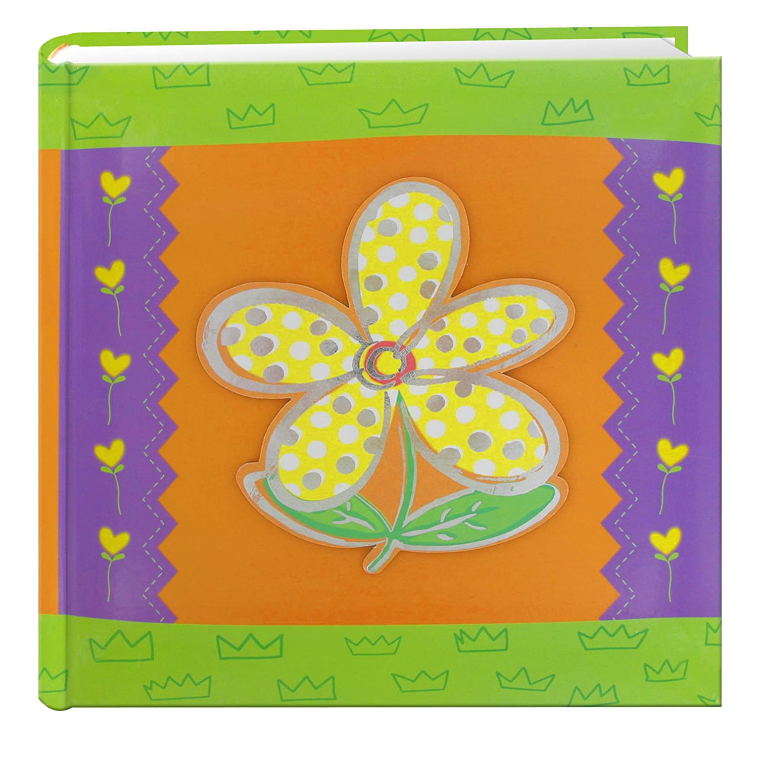Pioneer Photo Albums 200-Pocket 3-D Daisy Applique Cover Photo Album, 4 by 6-Inch DA-200/D