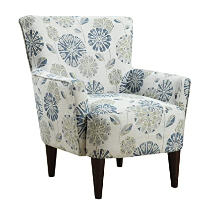 Floral Accent Chairs.Emerald Home Flower Power Cascade Teal Accent Chair With Flared Arms And Welt Trim