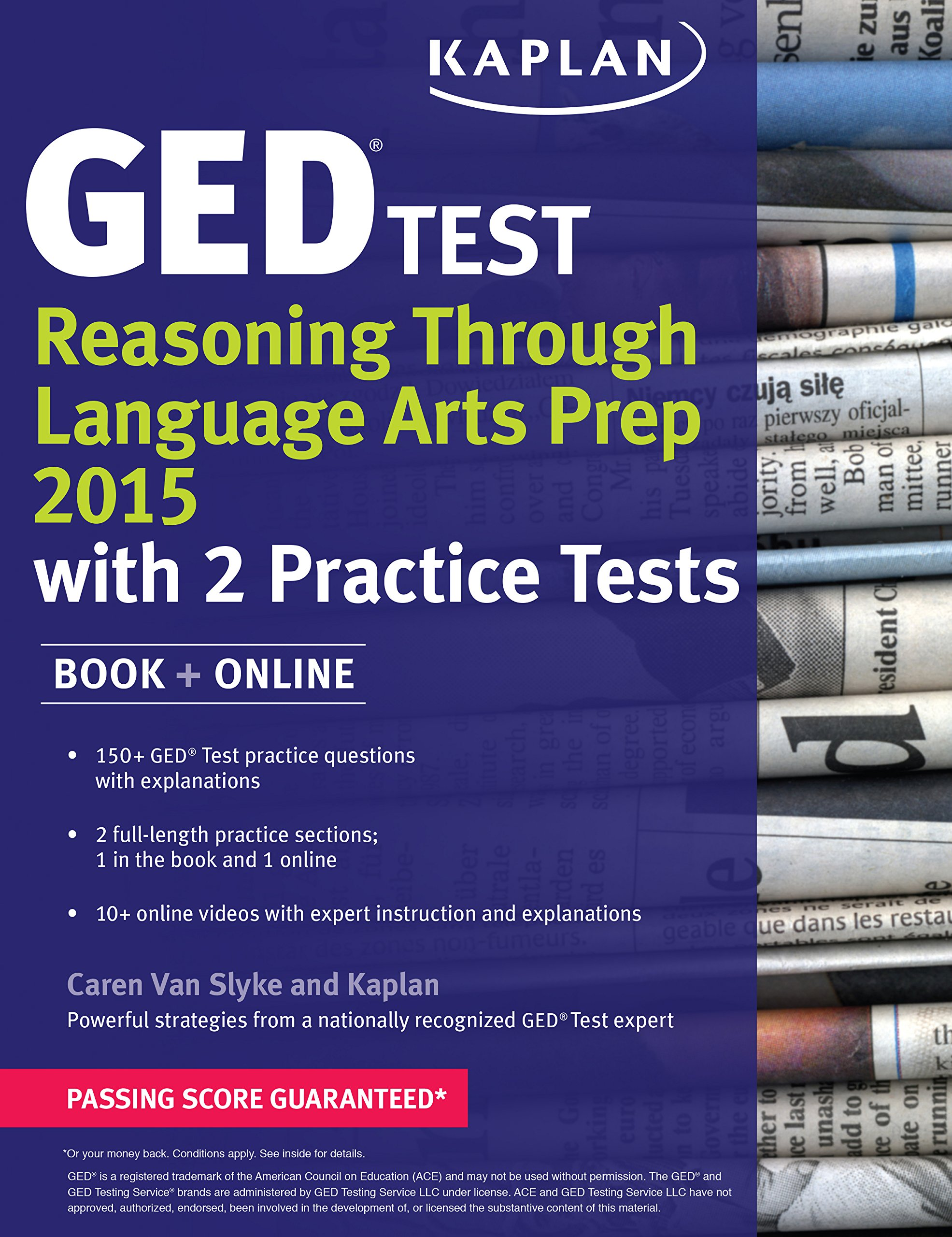Kaplan GED Test Reasoning Through Language Arts Prep 2015: Book + Online (Kaplan Test Prep) by Kaplan Publishing