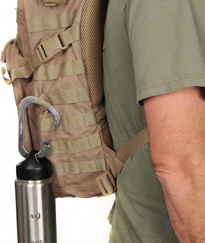 Black 3 Nite Ize CSL3-01-R6 SlideLock Carabiner