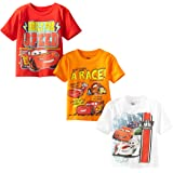 Disney Little Boys' Toddler Cars 3 Pack T-Shirt