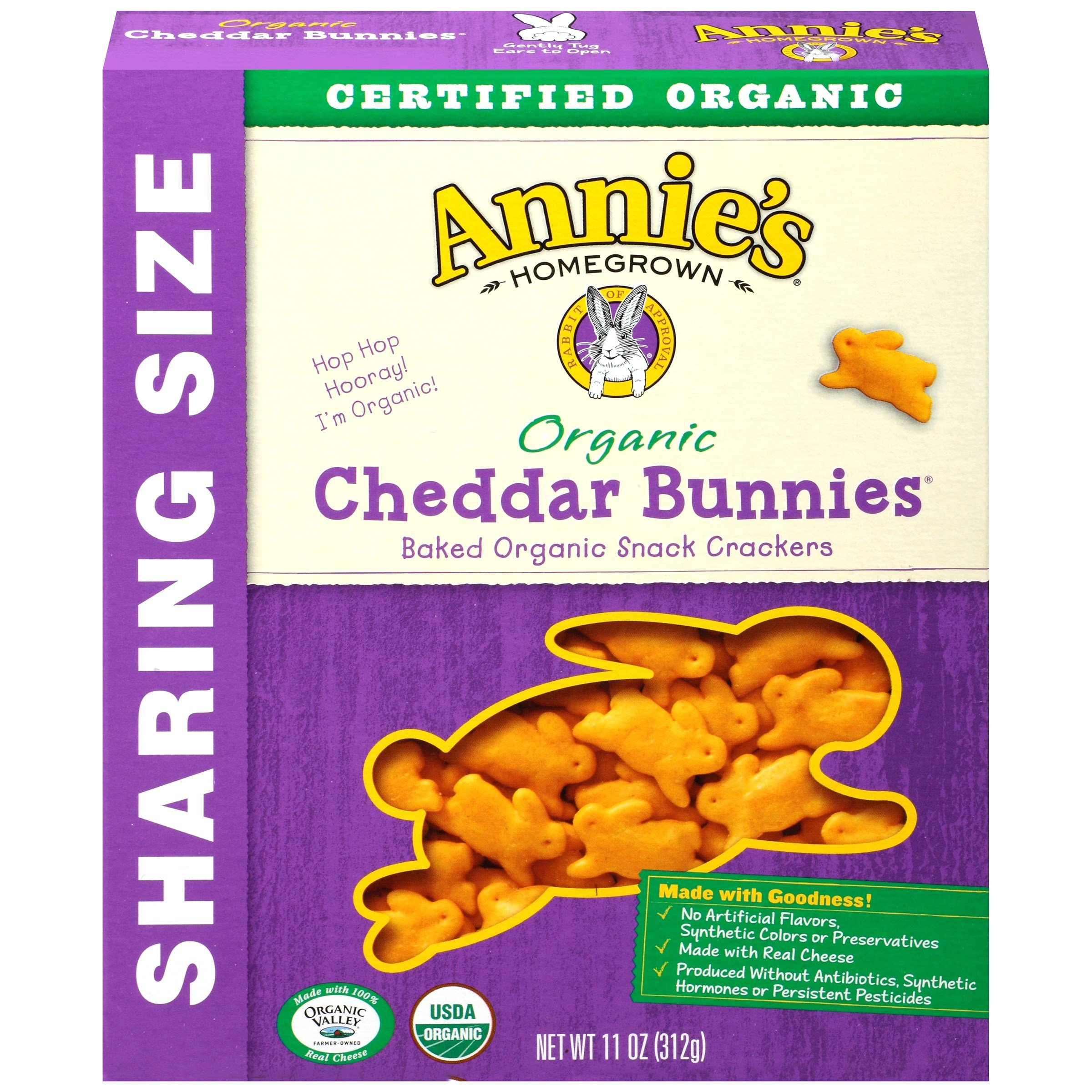 Annie's Homegrown Organic Cheddar Bunnies 11 Ounce (Pack of 24)
