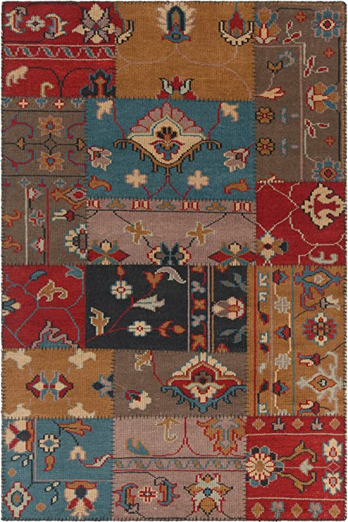 Amazon Com Chandra Rugs Fusion Area Rug 93 Inch By 126 Inch Red