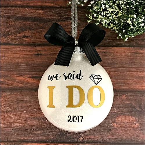 Amazon.com: Wedding Ornament 2017, Wedding Christmas Ornaments ...