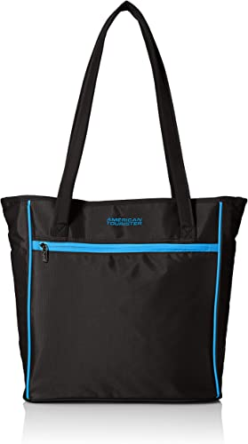 American Tourister Skylite Shopper, Black Blue