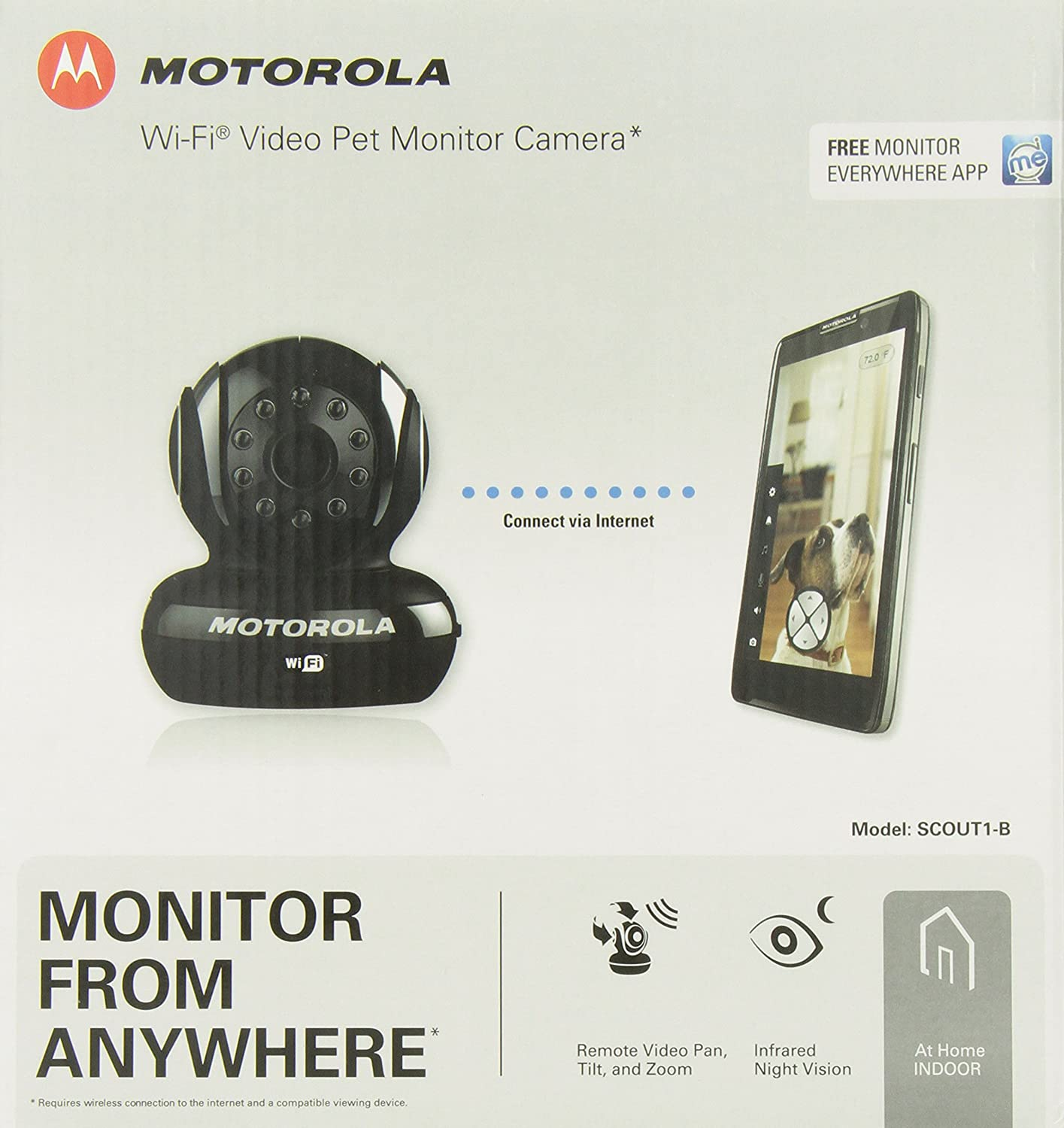 Amazon customer reviews motorola focus66 wi fi hd - Amazon Com Motorola Scout1 Wi Fi Pet Monitor For Remote Viewing With Iphone And Android Smartphones And Tablets Black Motorola Pet Supplies