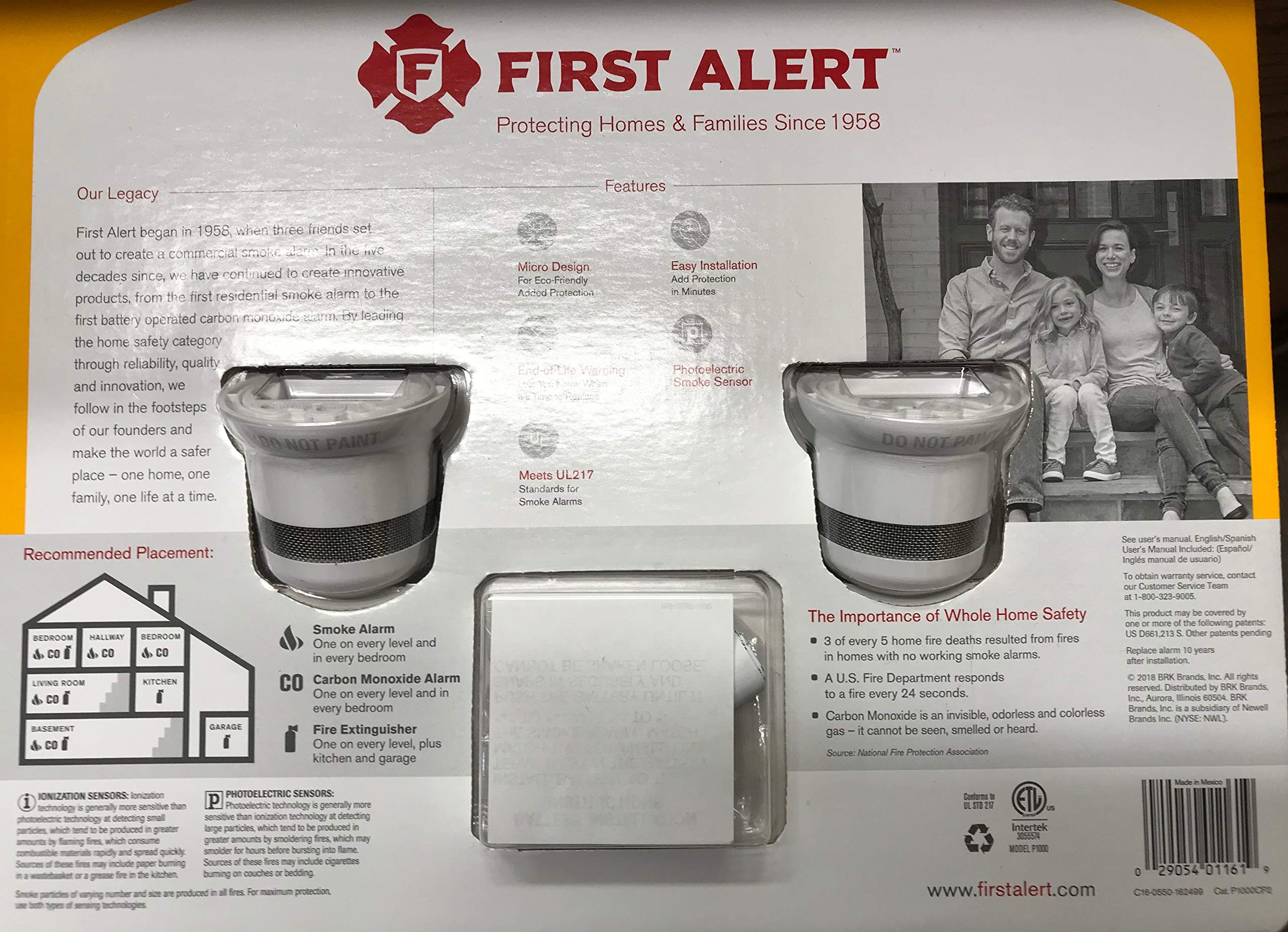 First Alert Battery-Operated Micro Photoelectric Micro Smoke Alarm by First Alert