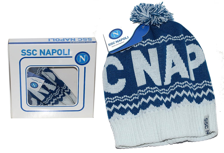 SSC Calcio Napoli cappello con pon pon  Amazon.it  Scarpe e borse 9d36195b064b