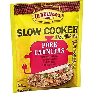 Old El Paso Slow Cooker Seasoning Mix Pork Carnitas, 0.85 oz
