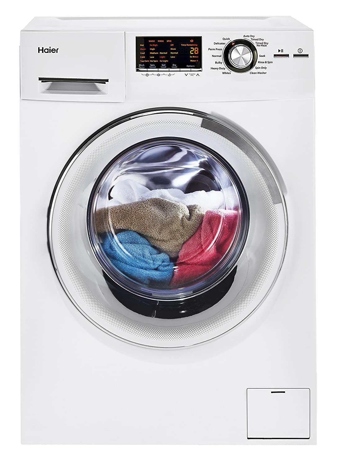 Amazon.com: Haier HLC1700AXW Compact Laundry Combo Washer/Dryer, White:  Appliances
