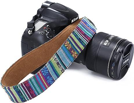 Fotocamera DSLR Tracolla Collo Vintage cinghie per Canon Nikon Sony Olympus SLR