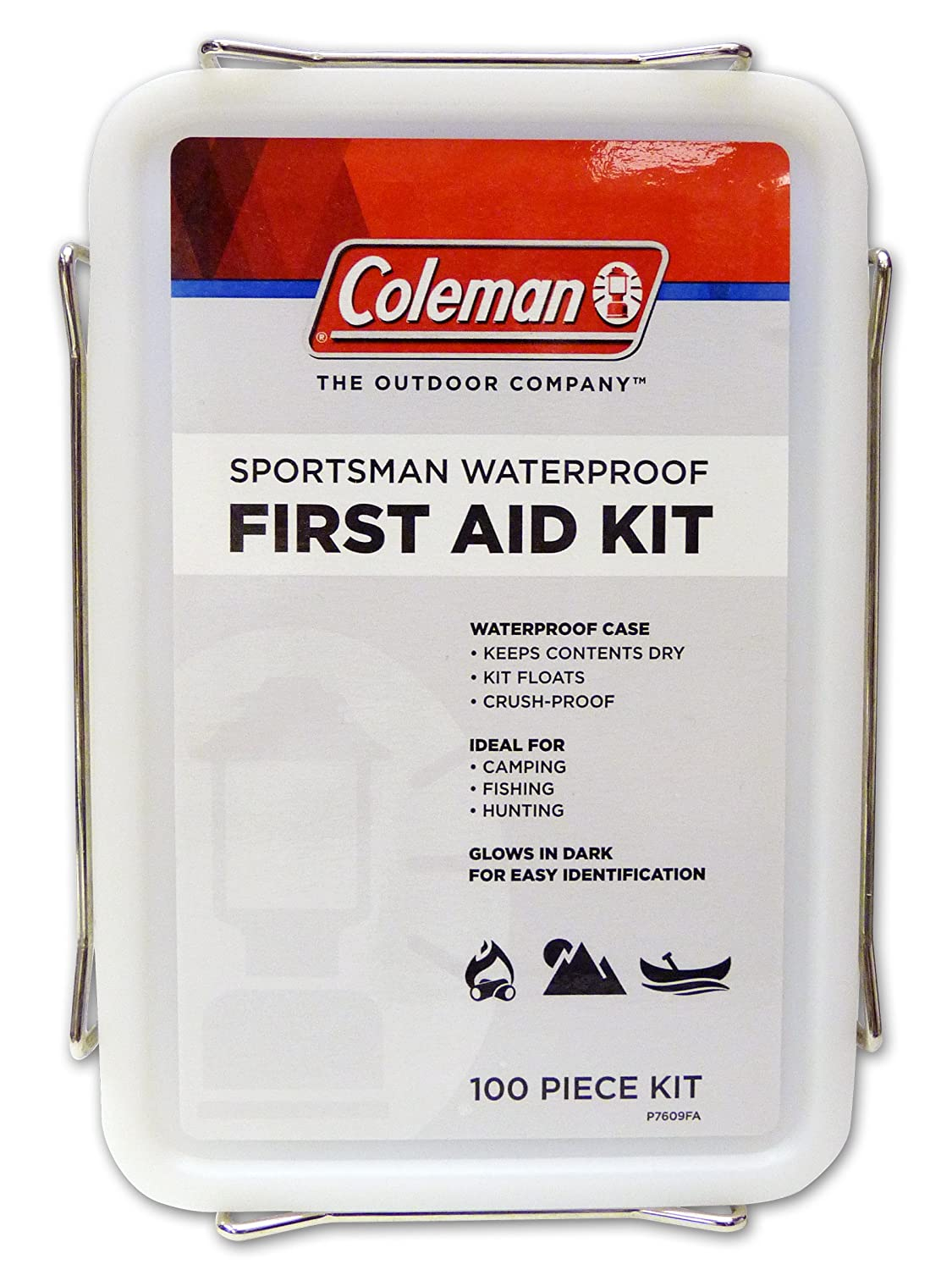 Coleman Sportsman Waterproof First Aid Kit, 100-Piece for boating Coleman Repellents 7609