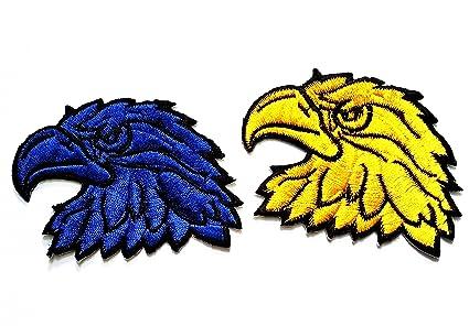 5d843ba2 Amazon.com: Nipitshop Patches Set of 2 Blue Yellow Patch Bald ...